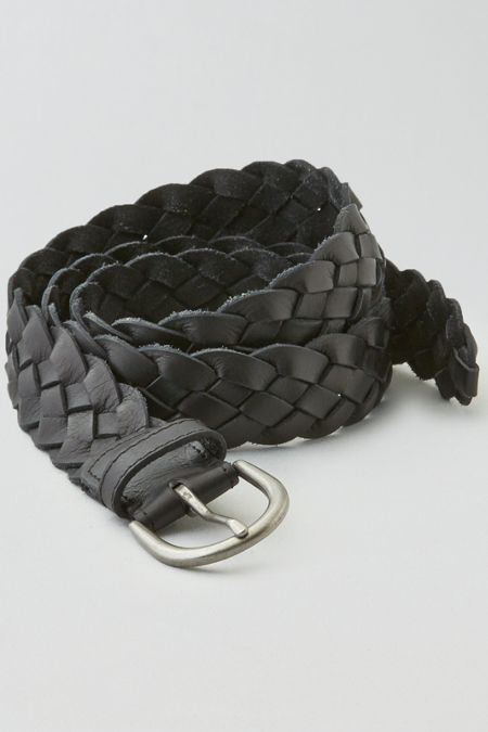 AEO Braided Belt, Brown | American Eagle Outfitters