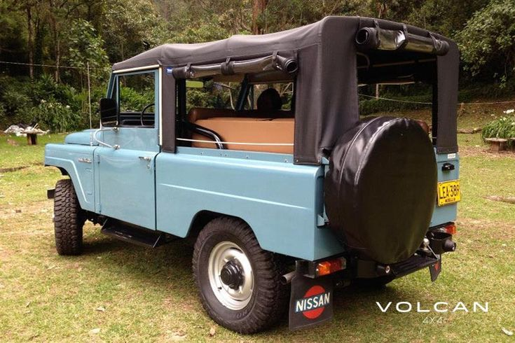 "The exterior and interior color combo of 'Indigo' is really great. Indigo is our rare-to-the-US, ""Hemmings Pick"" 1979 Nissan Patrol LG-60 from Volcan 4x4."