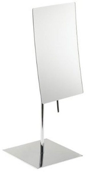 3 times magnification frameless Chrome vanity mirror.