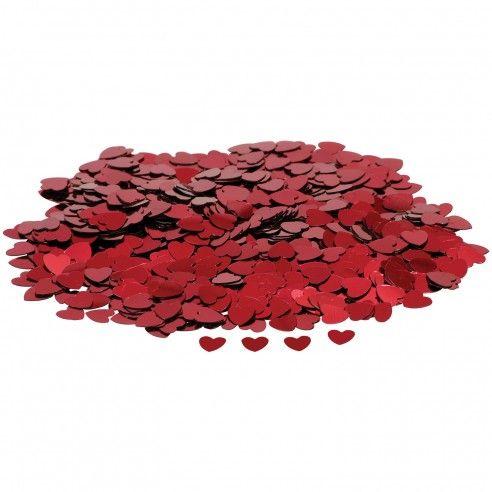 Zakje van rode confetti hartjes - 14gr. Leuk alternatief om te gooien na de huwelijksceremonie of om te gebruiken als decoratie op de tafel.
