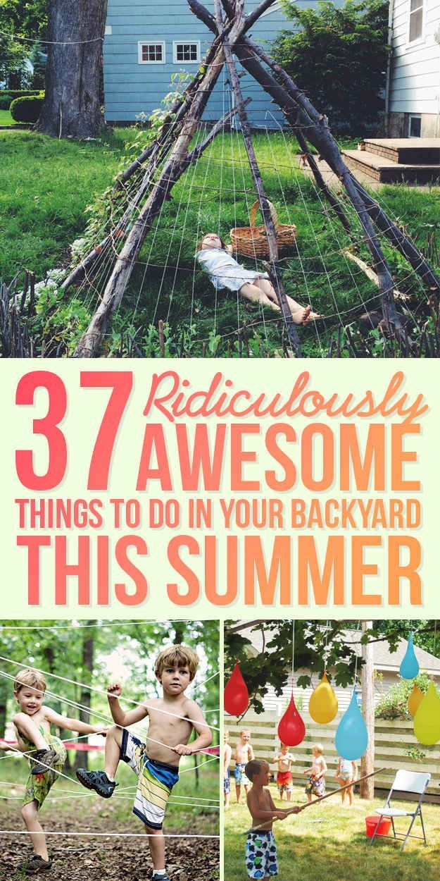 37 Ridiculously Awesome Things To Do In Your Backyard This Summer #Summer Activities, Kid Activities, Summer Kid Activities