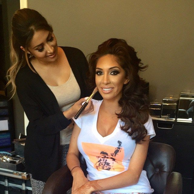 Farrah Abraham getting hair and makeup for MTV movie awards