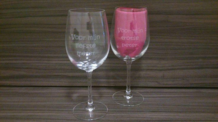 Wijnglas *Voor mijn liefste meter*