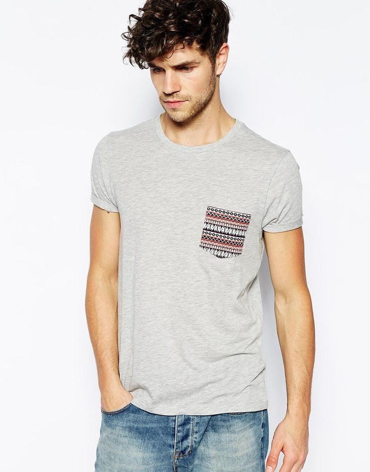 asos camiseta bolsillo étnico
