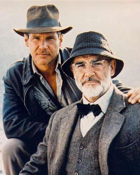 "Dr Henry ""Indiana"" Jones Jnr and Professor Henry Jones Snr. ( Harrison Ford and Sean Connery)"