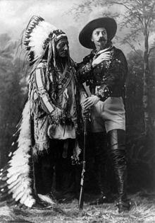 Sitting Bull and Buffalo Bill. <3