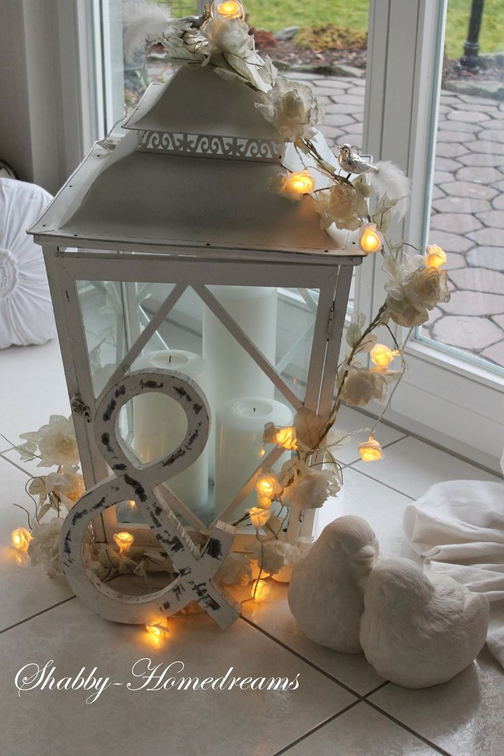 Lantern on the patio