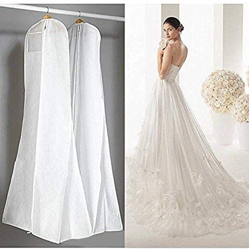 Large Garment Bags 72 Saver Dustproof Cover Storage Bag Wedding Dress Bag Prom Ball Gown Ga In 2020 Wedding Dress Garment Bags Wedding Dress Bags Wedding Dress Clothes
