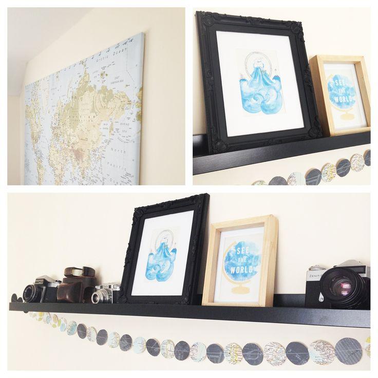 Travel Themed Bedroom Decor Travel Themed Room Pinterest