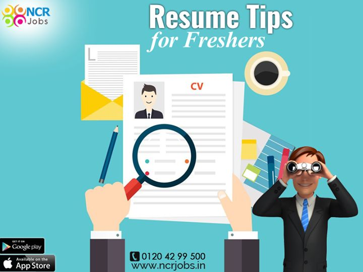 Follow the #ResumeTipsForFreshers to make your resume effective because having a solid resume can improve your chance of landing the dream job. See more @ http://bit.ly/2s8gCZp Download App @ http://bit.ly/2nxOUn3 #NCRJobs #ResumeTips