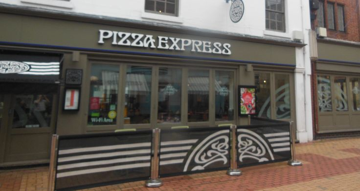 PizzaExpress in Rugby, Warwickshire  Part of a chain. They currently have a vegan pizza on the menu but will adapt a variety of dishes to make them suitable.We have always founds that if you take your own vegan cheese in an unopened packet they will add it to a pizza for you. They will adapt the kids menu to be vegan friendly too.