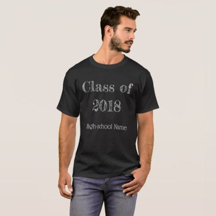 Class of 2018 -chalkboard style T-Shirt  $28.35  by almawad  - cyo diy customize personalize unique