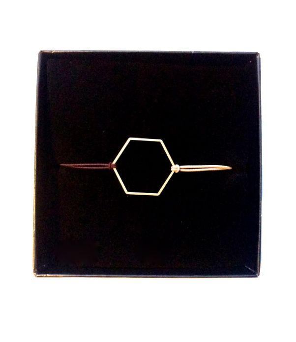 Hexagon bracelet made by Essa Design https://www.etsy.com/shop/EssaDesign
