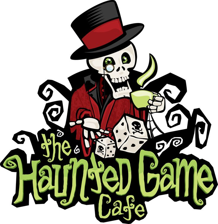 The Haunted Game Cafe Logo - Oscar!