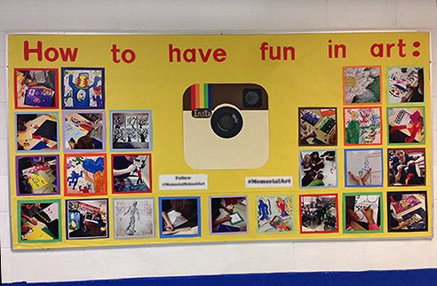 INSTAGRAM: How to Have Fun in Art! bulletin board display idea #education #art #artsed