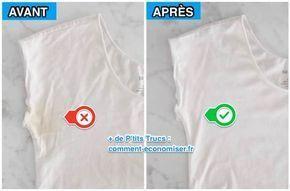 Les taches jaunes sous les aisselles sont difficiles à faire partir. L'astuce est d'utiliser du vinaigre et du citron pour les enlever.  Découvrez l'astuce ici : http://www.comment-economiser.fr/secret-pour-faire-disparaitre-taches-jaune-sous-aisselles.html?utm_content=buffer57587&utm_medium=social&utm_source=pinterest.com&utm_campaign=buffer