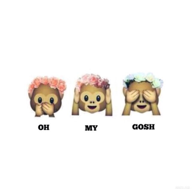 Monkeys flowercrown tumblr transparent cute emojii sass