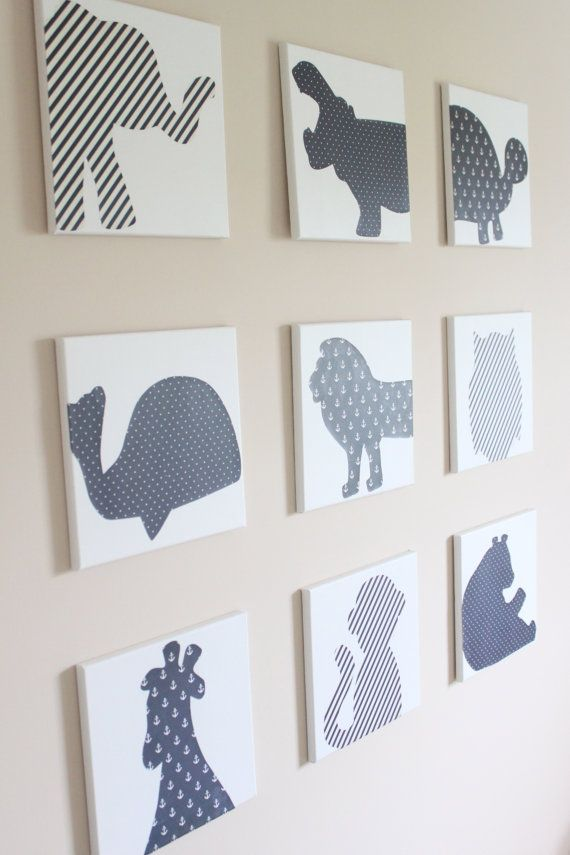 This listing is for a set of NINE 12x12 stretched canvases with various animal patterned images, cut from patterns in whatever color you choose!