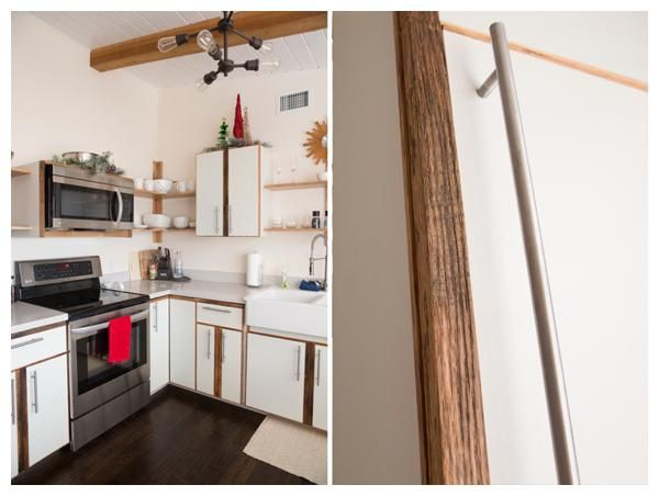 Weird Wood Furniture Makes Home Fashion Statement:He recently designed and built a custom kitchen with white lacquered panels and reclaimed barn oak details that would be a social media hit with home enthusiasts on Houzz and Pinterest.