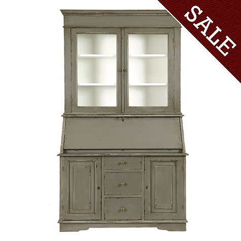 San Marino Secretary Desk With Hutch Formal Living Room