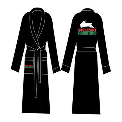 NRL Rabbitohs Dressing Gown with Embroidered Logo C A Australia