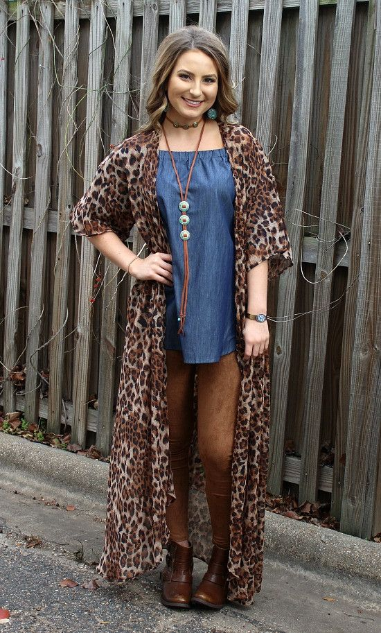 Highs and Lows Leopard Print Duster – Giddy Up Glamour Boutique
