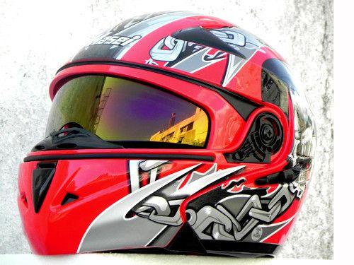Мэри детский шлем мотоциклетный шлем MASEI выставить козырек 803 красный череп кито нью-джерси