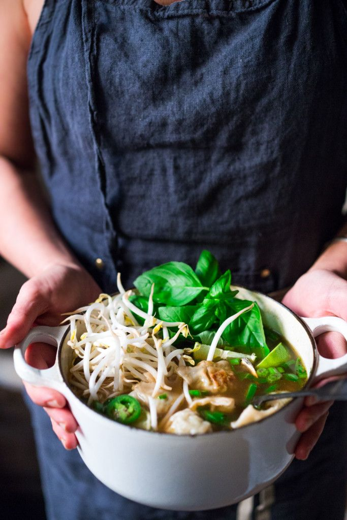 Lightning Speed Photon Soup- a cross between Vietnamese Pho and Wonton soup that can be made in 15 minutes flat! Nourishing,…