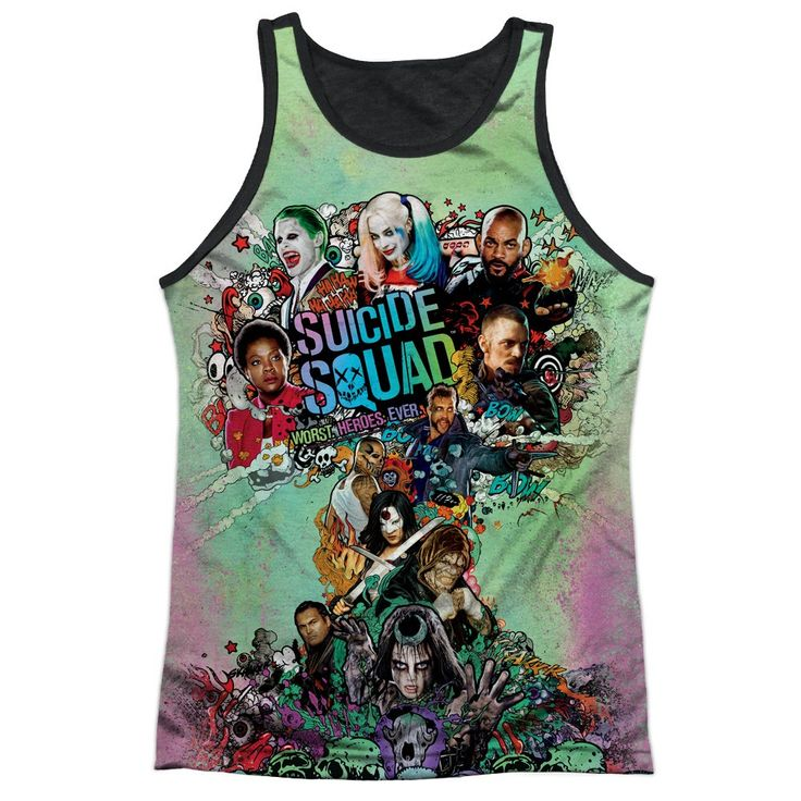 """Checkout our #LicensedGear products FREE SHIPPING + 10% OFF Coupon Code """"Official"""" Suicide Squad/psychedelic Cartoon - Adult 100% Poly Tank Top Black Backt- Shirt - Suicide Squad/psychedelic Cartoon - Adult 100% Poly Tank Top Black Backt- Shirt - Price: $24.99. Buy now at https://officiallylicensedgear.com/suicide-squad-psychedelic-cartoon-adult-100-poly-tank-top-black-backt-shirt-licensed"""