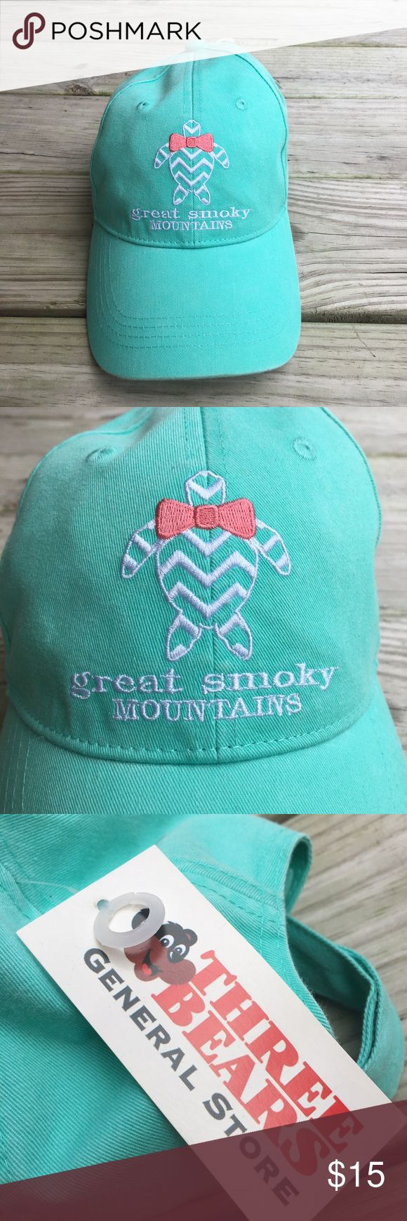 Teal Great Smoky Mountains Hat Cap Teal Great Smoky Mountains Hat Cap. New with tags!! Never worn. Accessories Hats