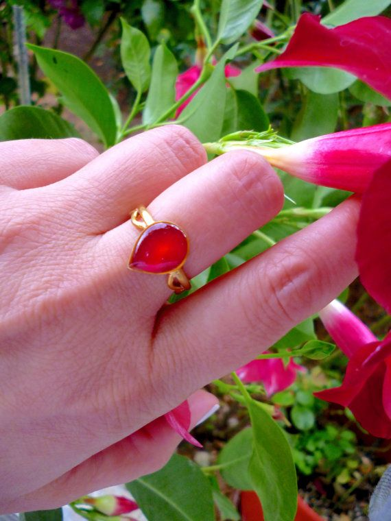 Hey, I found this really awesome Etsy listing at https://www.etsy.com/listing/269731919/teardrop-ring-red-ring-adjustable-ring