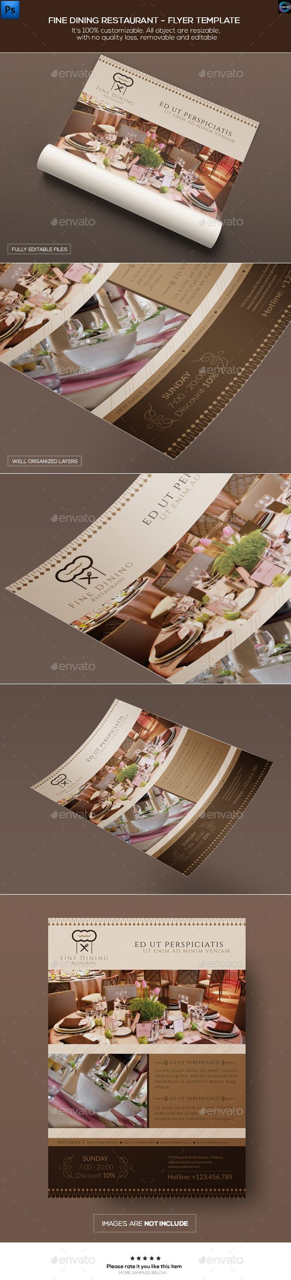 Fine Dining Restaurant - Flyer Template - Commerce Flyers