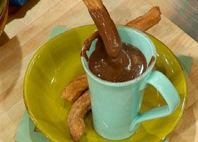 Churros with Hot Chocolate | food | Pinterest