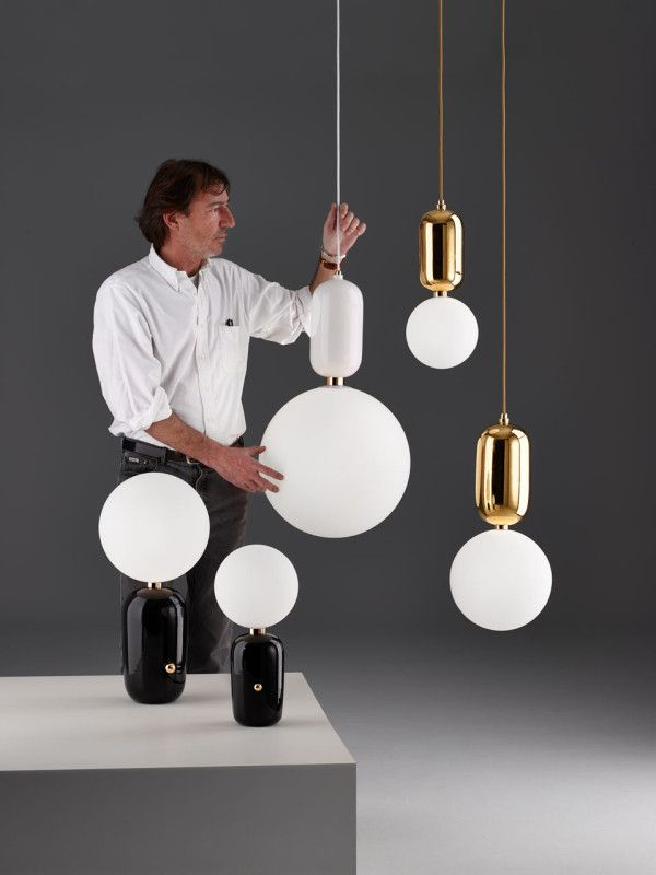 "Jaime Hayon's ABALLS are made with ""rich materials, traditional skills blended with artisanal craftsmanship and impeccable finishes.""  http://design-milk.com/parachilna-launches-lighting-stephen-burk-jaime-hayon/"