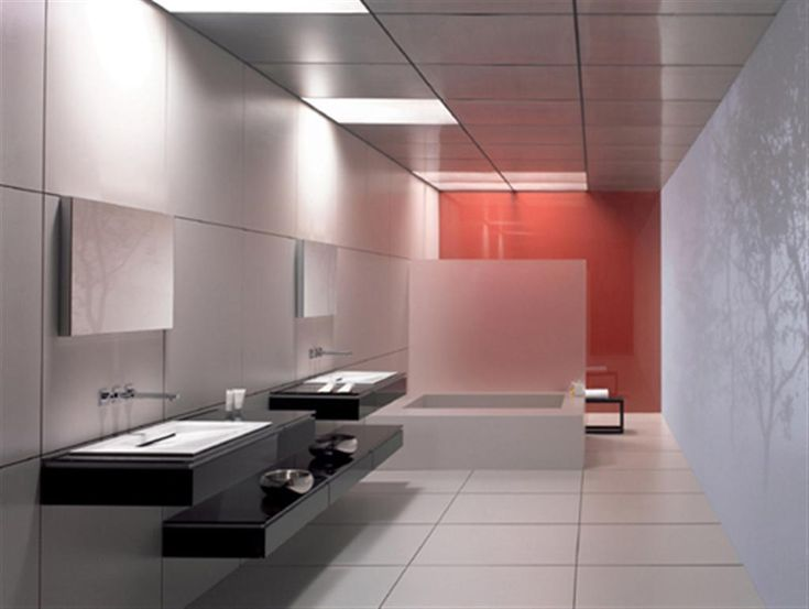 top 5 modern bathroom color ideas that makes you feel comfortable in your own place interesting but it looks like a public restroom - Modern Design Bathrooms 2010