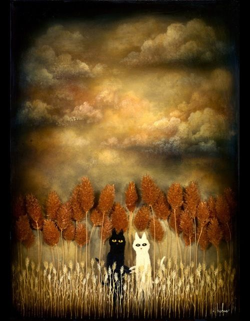 Secret Meeting, by Andy Kehoe (I love the layering and colors.)