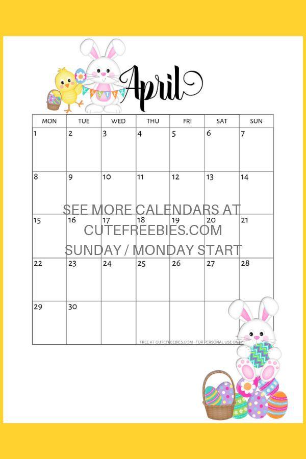 Free April 2019 Calendar Printable Bullet Journal Themes
