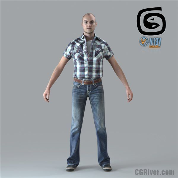 Free 3D Model: RIGGED Man for 3ds Max (CMan0010M4CS) | 3d