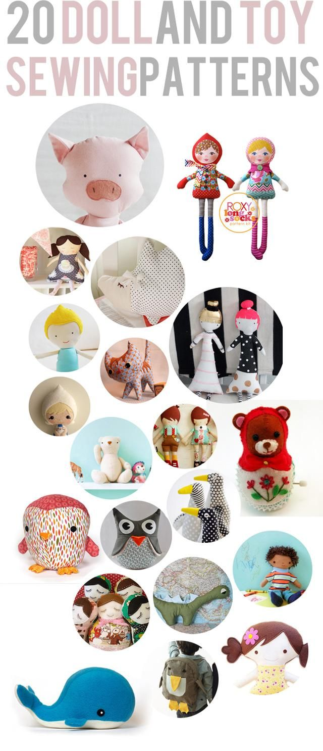 20 DIY doll and softie patterns