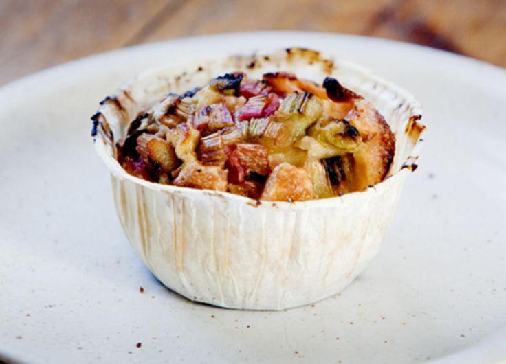 Muffins med rabarbra