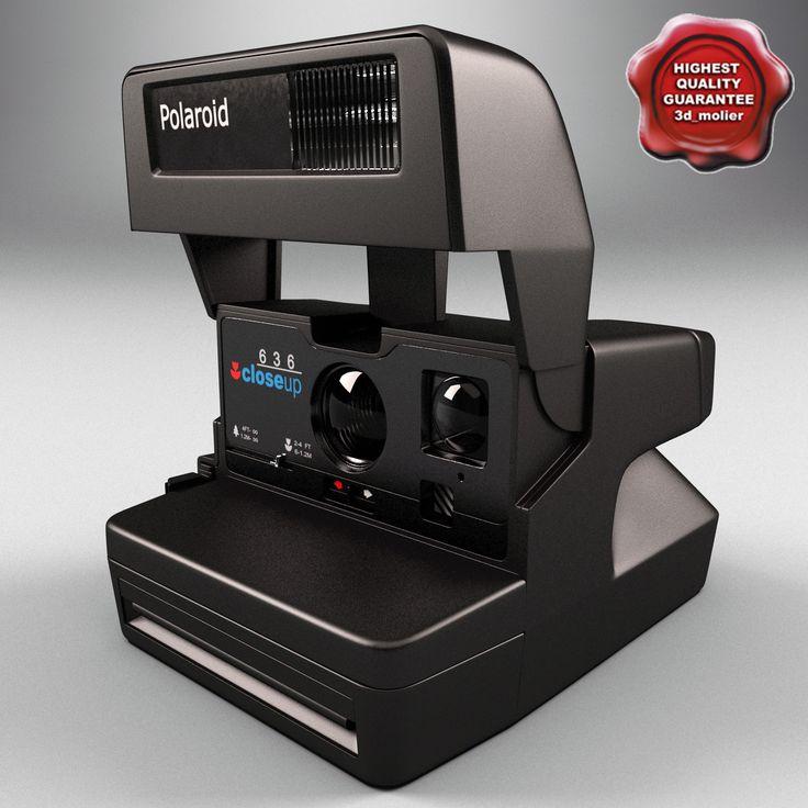 Maya Polaroid 636 - 3D Model