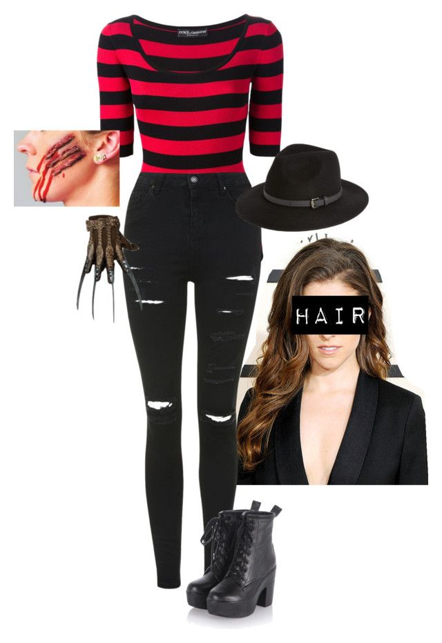 """Freddy Krueger Costume"" by rparry ❤ liked on Polyvore featuring Dolce&Gabbana, Topshop and Sole Society"