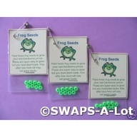 candy swap for girls scouts   Frog seeds! Cute Girl Scout swap.