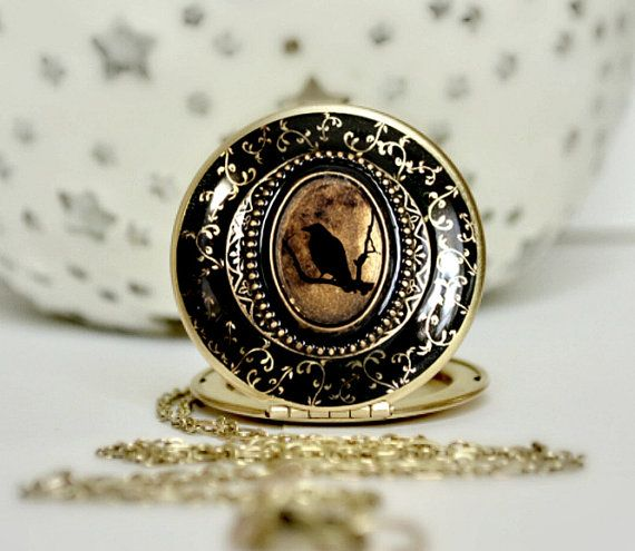 The Raven Halloween Jewelry Edgar Allan Poe by LilybelleGrace