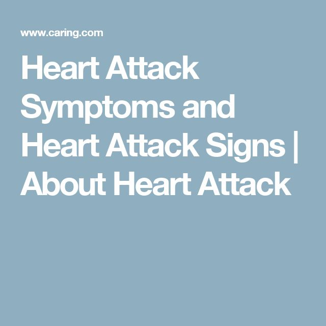 Heart Attack Symptoms and Heart Attack Signs | About Heart Attack