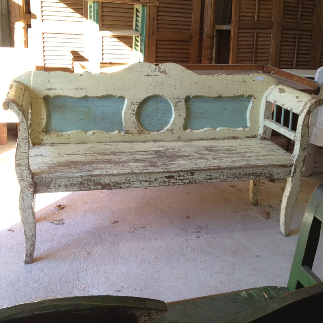 antique foyer furniture. creamy ivory and blue antique bench original paint foyer furniture a