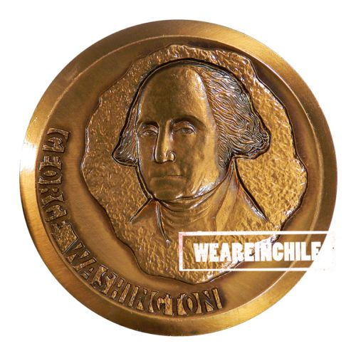 GEORGE WASHINGTON COPPER MEDAL MADE IN CHILE US PRESIDENT GENERAL WASHINGTON NEW