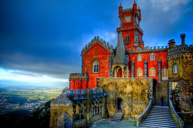 Pena Nationale Palace In Sintra, Portugal, one of the most beautiful palace in Europe