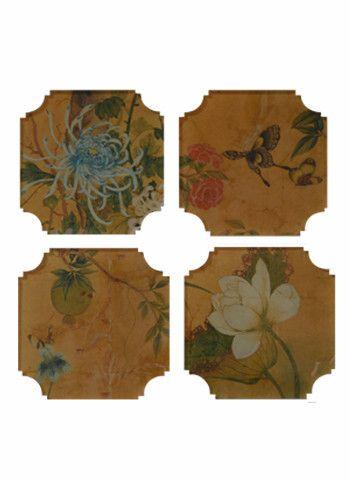 Reprotique Asian coasters, set of four