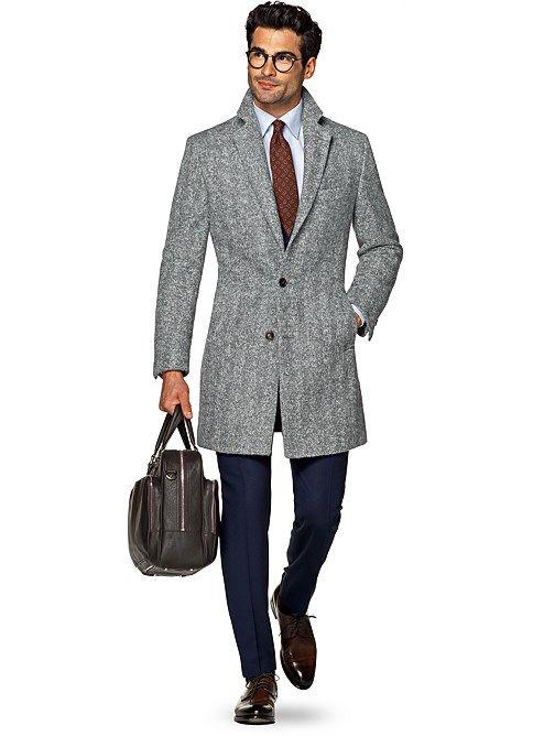 Grey Overcoat J458i   Suitsupply Online Store